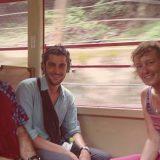 ゲストの皆さんと嵐山のトロッコ列車に乗りに